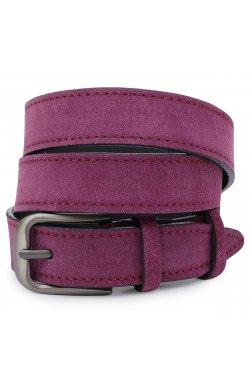 Красивый замшевый ремень для женщин Vintage 20783 Фиолетовый