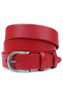 Женский кожаный ремень Vintage 20786 Красный