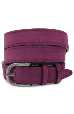 Выразительный замшевый женский ремень Vintage 20792 Фиолетовый