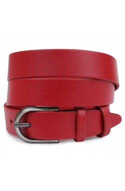 Кожаный женский ремень Vintage 20795 Красный