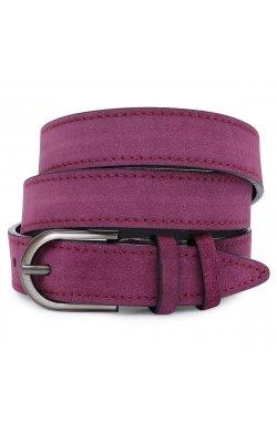 Превосходный замшевый женский ремень Vintage 20801 Фиолетовый