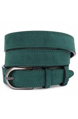 Элегантный замшевый женский ремень Vintage 20802 Зеленый