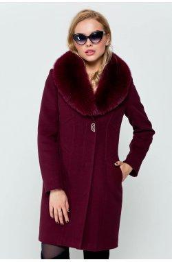 Пальто женское Вайнона бордо - Зима