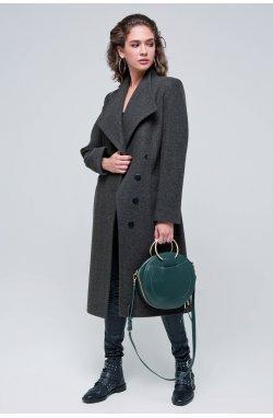 Пальто женское Паулина коричневый - Демисезон