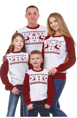 Семейные свитшоты. Свитшот для всей семьи Олени