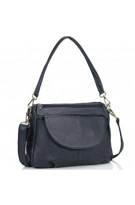 Женская кожаная сумка синяя Riche NM20-W1195BL - натуральная кожа, синий