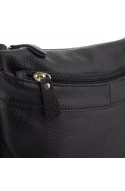 Женская кожаная сумка черная Riche NM20-W0326A - натуральная кожа, черный