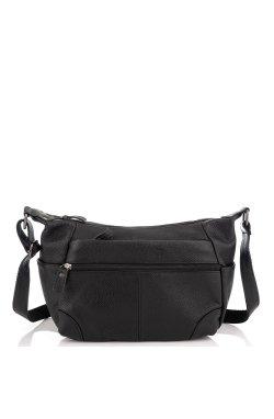 Кожаная сумка женская Riche NM20-W130A - натуральная кожа, черный