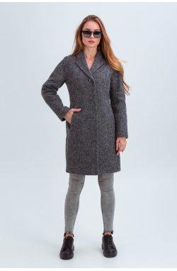 Пальто женское Эрика серый - Зима