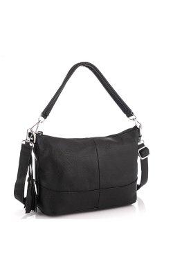 Кожаная женская сумка черная Riche NM20-W891A - натуральная кожа, черный