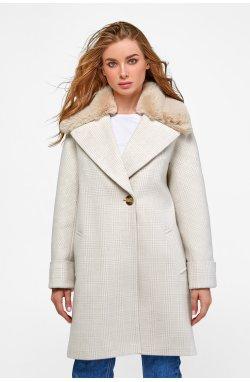 Пальто женское Мили бежевый - Зима