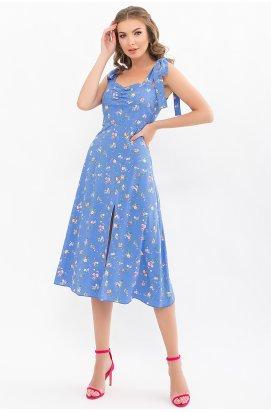 Сарафан Фолина - GLEM, голубой-розовые цветы