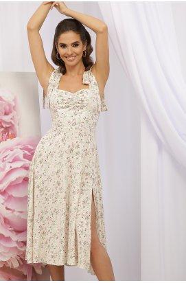 Сарафан Фолина - GLEM, молоко-персик.Розы