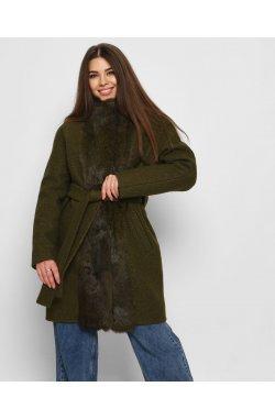 Зимнее пальто X-Woyz LS-8767-1 - Цвет Оливковый