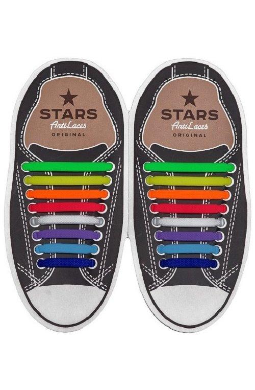 Косые силиконовые шнурки (антишнурки) для кроссовок и кед