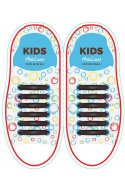 Дитячі прямі силіконові шнурки (антишнурки) для кросівок та кед