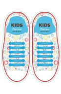 Детские прямые силиконовые шнурки (антишнурки) для кроссовок и кед