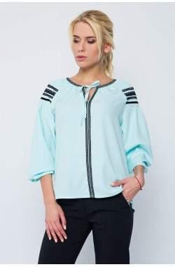 """Блуза """"НЕЖНОСТЬ"""" цвета мяты"""