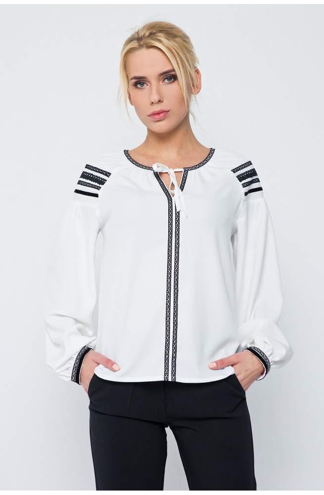 """Блуза """"НЕЖНОСТЬ"""" белого цвета"""