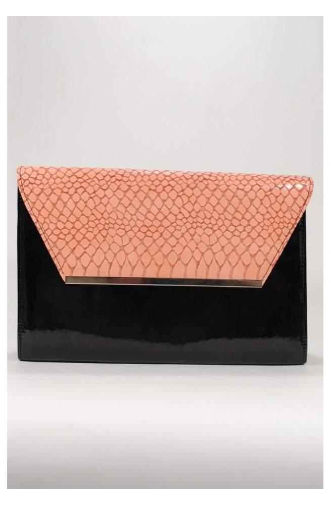 Сумка-клатч черно-розового цвета