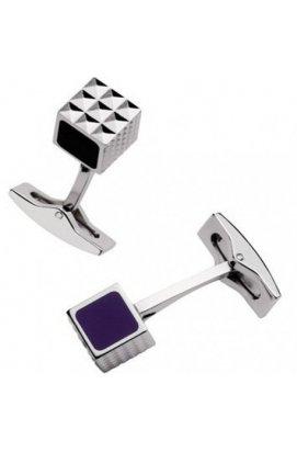 Запонки ST Dupont Black & Purple Laque Du5249
