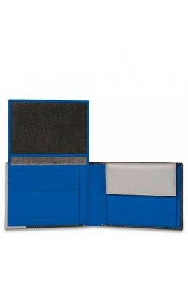 Портмоне PIQUADRO черный PULSE/Black-Blue PU1392P15_NB