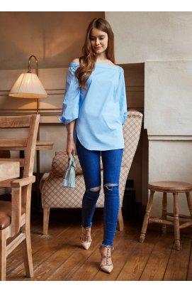 Сорочка в ніжно-блакитному кольорі