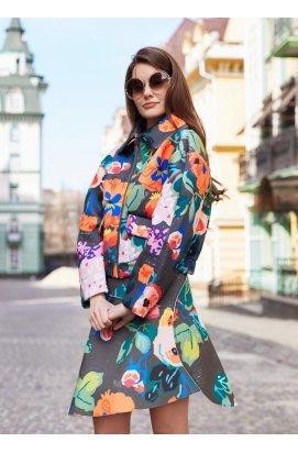Расклешенная юбка с цветочным принтом