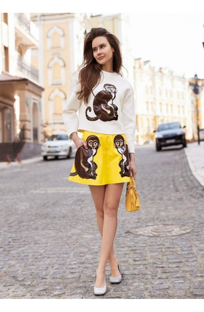 Юбка желтого цвета