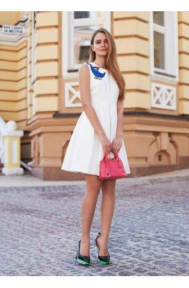 Платье с аппликацией в виде гуся