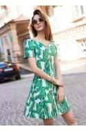 Платье с принтом в виде листьев джунгли