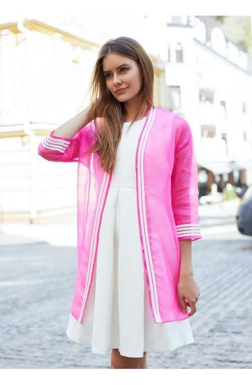 Жакет ярко-розового цвета