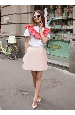 Юбка нежно-розового цвета