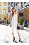 Шовкові брюки з яскравою аплікацією