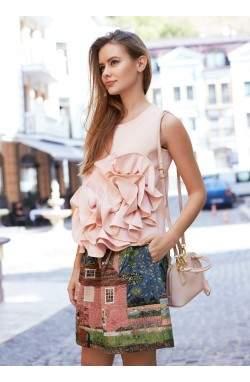 Топ розового цвета
