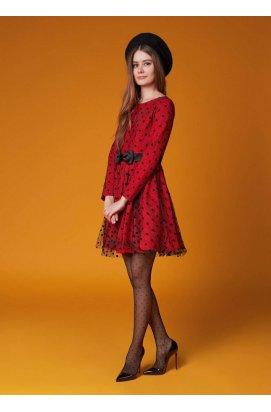 Платье в горошек во французском стиле