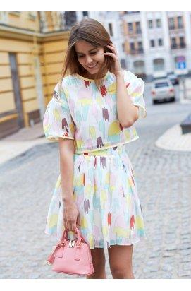 Топ и юбка с принтом в виде мороженого
