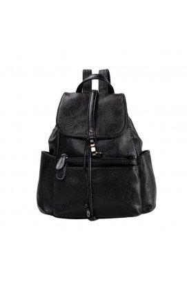 Женский рюкзак Olivia Leather NWBP27-8836A-BP - Натуральная кожа, черный