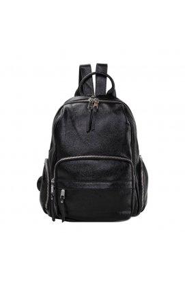 Женский рюкзак Olivia Leather NWBP27-7729A-BP - Натуральная кожа, черный