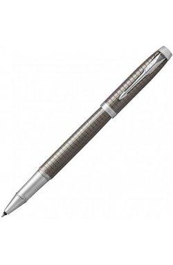 Ручка роллер Parker IM 17 Premium Dark Espresso Chiselled CT RB 24 322